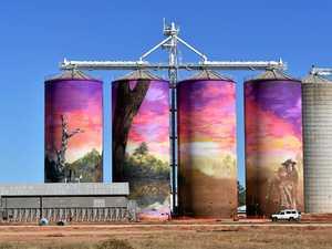 Grain silos become a beautiful site in Thallon
