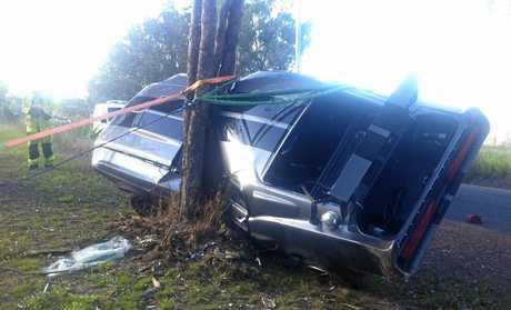 The scene of the crash on Diamondfield Rd in Amamoor on August 14, 2016.