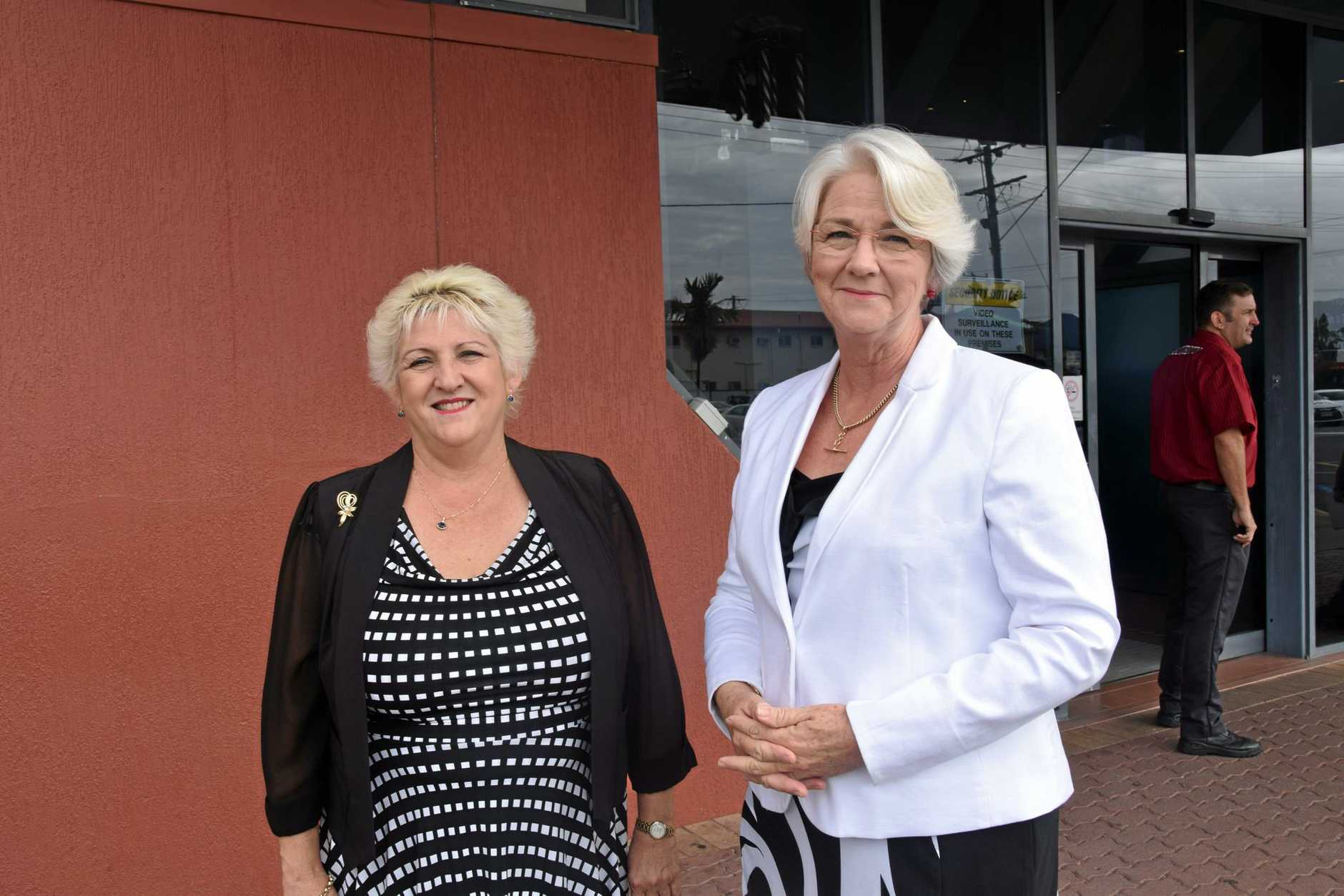 LEVEE DEBATE: Capricornia MP Michelle Landry and Rockhampton Region mayor Margaret Strelow are still struggling to find a way forward with the South Rockhampton flood levee.