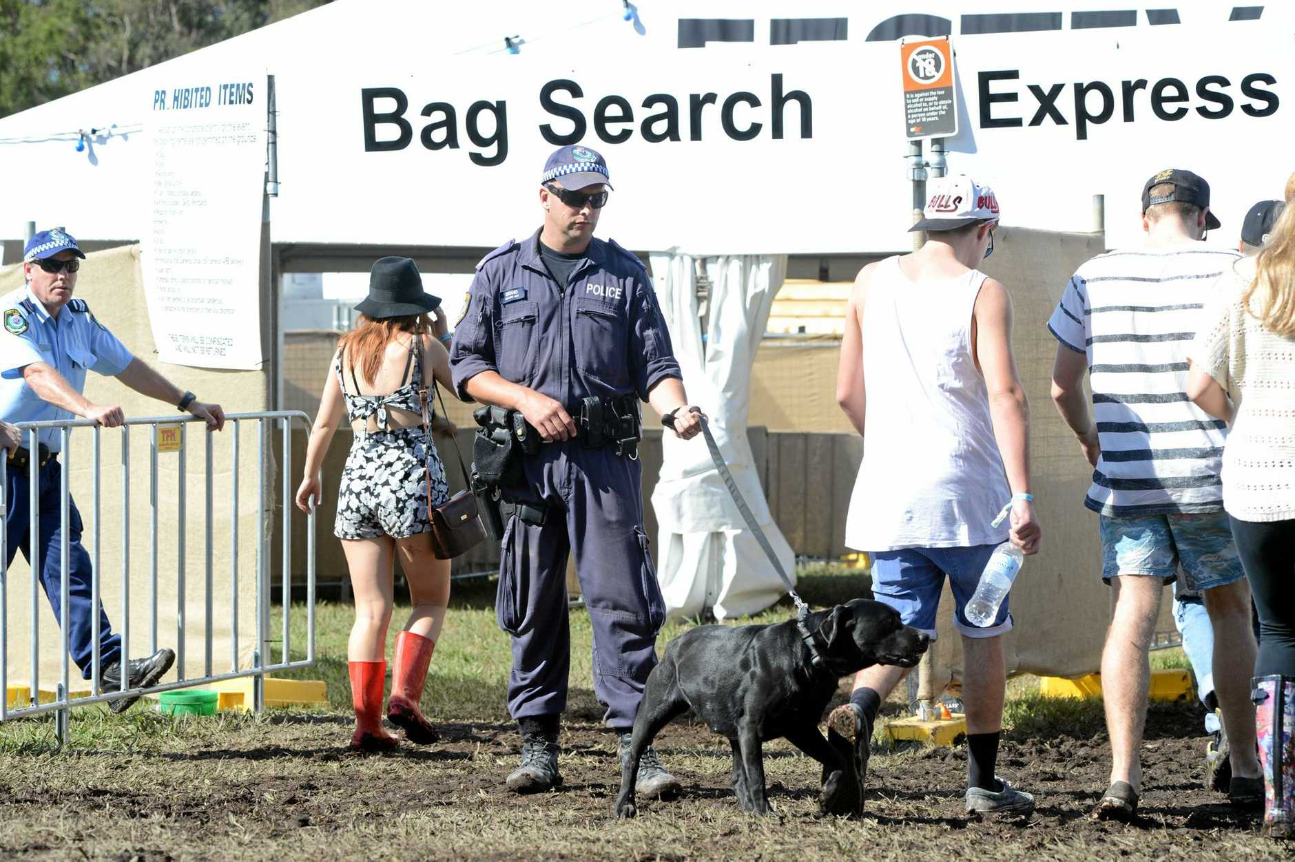Police sniffer dogs will be on the ground at Splendour In The Grass this year.
