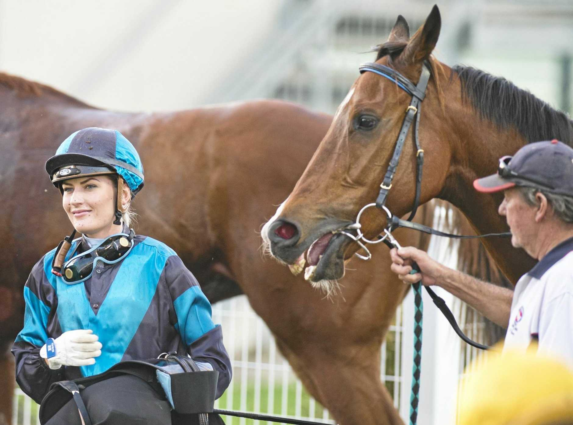 Apprentice Ruby Ride after a recent Clifford Park victory.