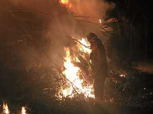 Workman's Beach area controlled burn-off