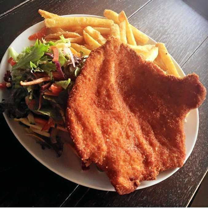 CHICKEN DINNER: Russell Haack ate the chicken schnitzel in the store and left without paying.