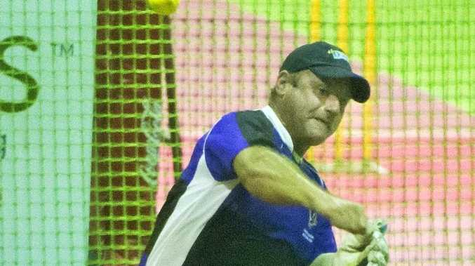 IN ACTION: Lyle Teske plays for Toowoomba in National Indoor Cricket League south-east Queensland action.