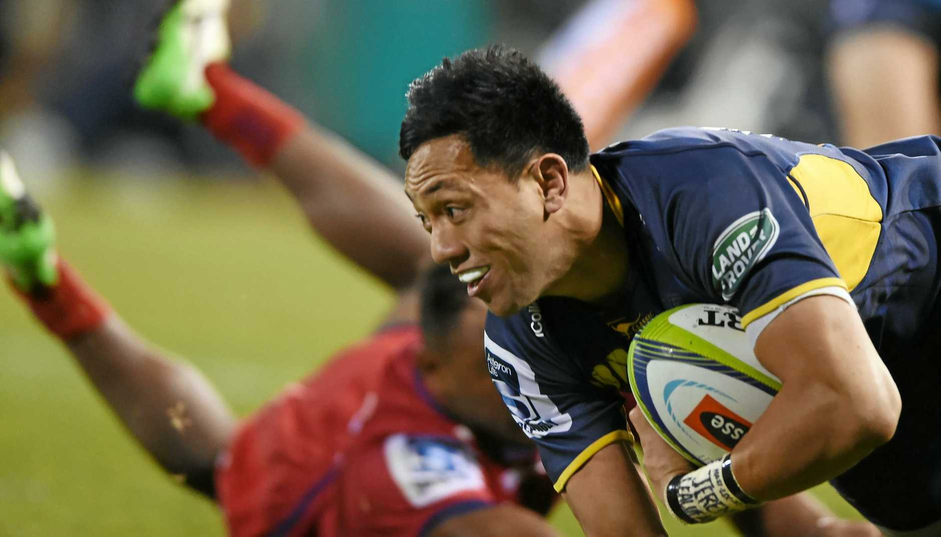 AMAZING COMEBACK: Christian Lealiifano is back in the Brumbies side after beating leukemia.