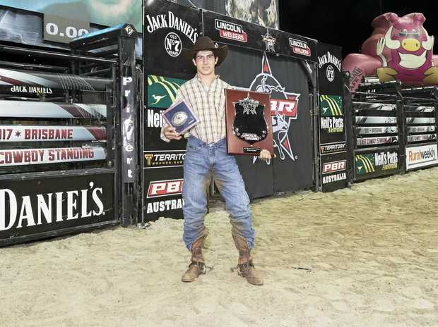 Champion Kurt Shephard at the PBR Last Cowboy Standing.