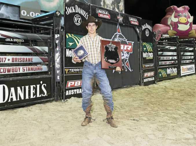 Champion Kurt Shephard at the PBR Last Cowboy Standing.