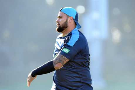 Andrew Fifita takes part in a NSW training session in Sydney.