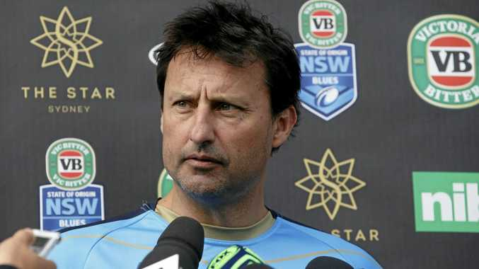 NSW Blues coach Laurie Daley speaks to the media.