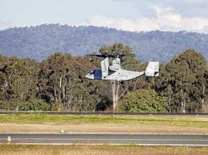 'Unusual visitors': USAF VTOL aircraft touch down in Ipswich