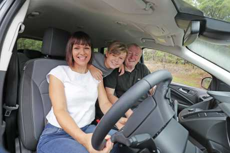CarsGuide - Chief motoring writer Paul Gover pictured with his wife Ali and their son Eli. Picture: Luke Marsden