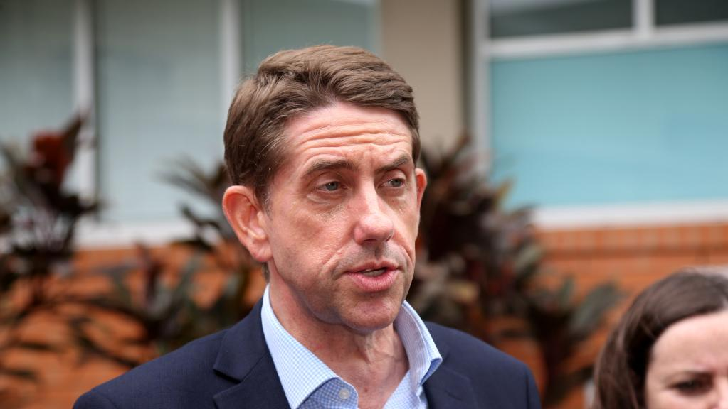 Health Minister Cameron Dick there was $38 million still owing from the payroll debacle. The debt incurred between 2010 and 2013. Picture: Stewart McLean