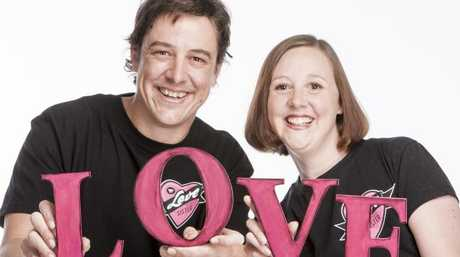Actor Samuel Johnson and his sister Connie Johnson, who has breast cancer. Source: Supplied