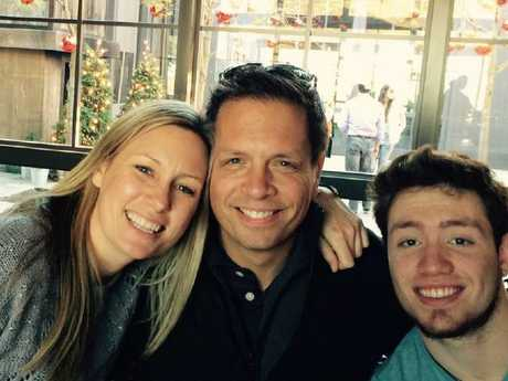 Australian woman Justine Damond (pictured with Don Damond and Zach Damond) was killed by police in Minneapolis. Picture: Facebook