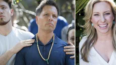 Justine Damond, right, and fiance Don damond and soon-to-be stepson Zach Damond.