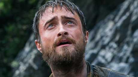 Daniel Radcliffe in a scene from his new movie, Jungle.