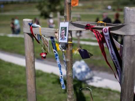 A memorial tree for 25-year-old Jack O'Brien.