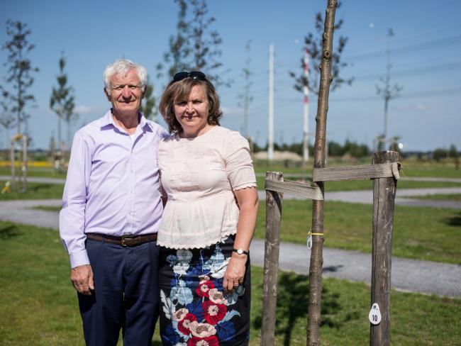 Serge and Vera Oreshkin, whose son Victor Oreshkin, 29, was killed on MH17.