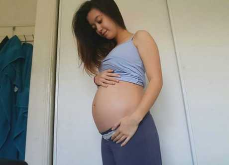 Jeanya was six months along when she gave birth prematurely in October. Image: supplied.