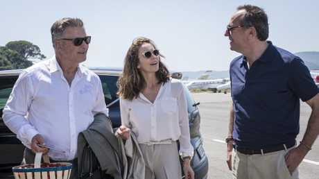 Alec Baldwin, Diane Lane and Arnaud Viard in a scene from Paris Can Wait.