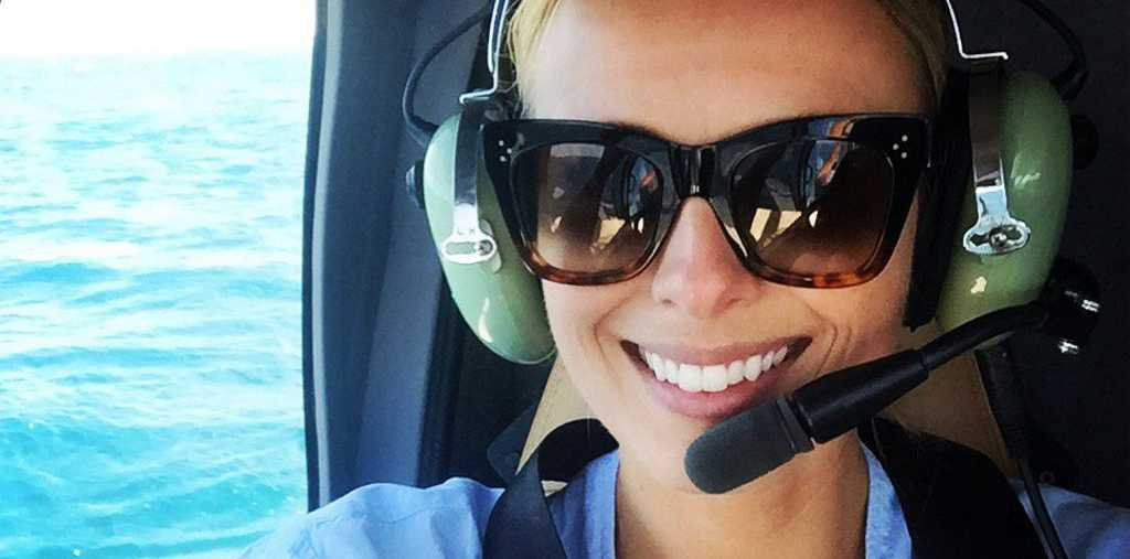 FLYING HIGH: Today Show host Sylvia Jeffreys said visiting the reef in the Whitsundays post Cyclone Debbie was a remarkable experience.