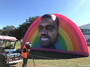 UPDATED: (Inflatable) Kanye has arrived at Splendour