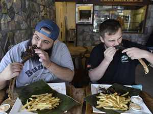 WATCH: Messy monster steak challenge in 8 minutes