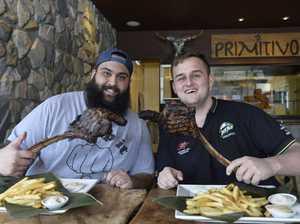Men take on steak challenge