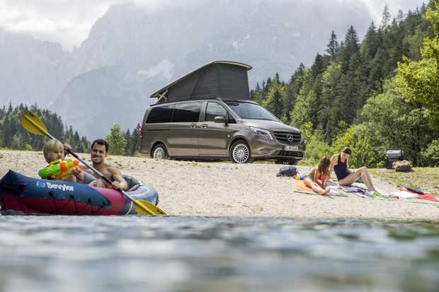 Mercedes-Benz Marco Polo campervan starts from $63,627 before on-roads. It cleverly converts from an eight-seat family van into a motorhome with two large double beds, one on the roof and one in the main cabin.