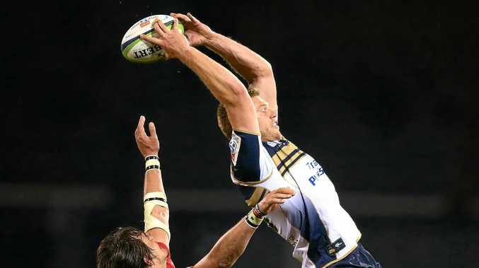 IN FINALS:: Blake Enever of the Brumbies wins line out ball during a Super Rugby match between the Brumbies and the Lions in Canberra.