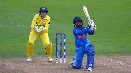 Indian skipper Mithali Raj hits out in the Women's World Cup clash against Australia.