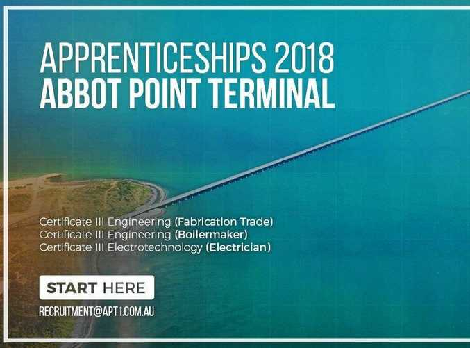 Adani is looking for its next crop of young apprentices at Abbot Point.