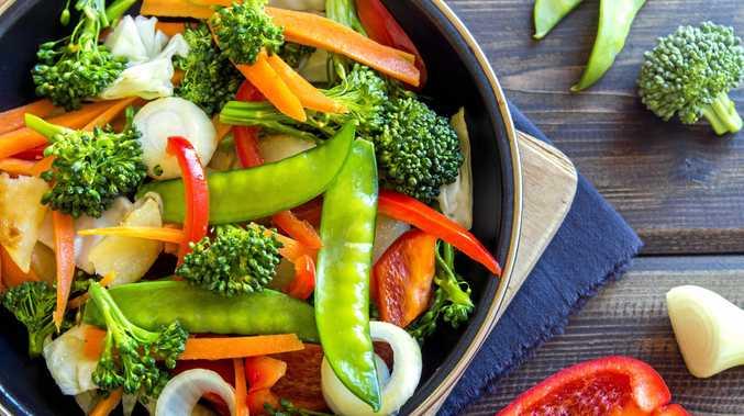 Healthy stir fried vegetables.