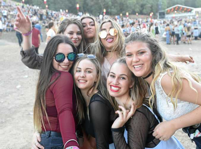 Punters at Splendour in the Grass 2016 at Byron Bay.