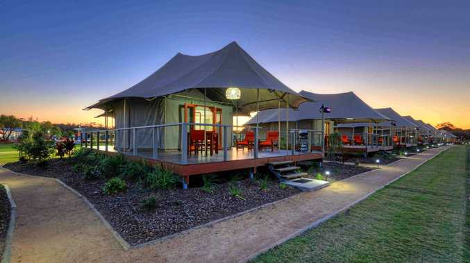 TOP RESORT: Rivershore Resort at Diddillibah is rated the best of the BIG4 holiday parks in Australia. Pictured are the resort's safari tents.