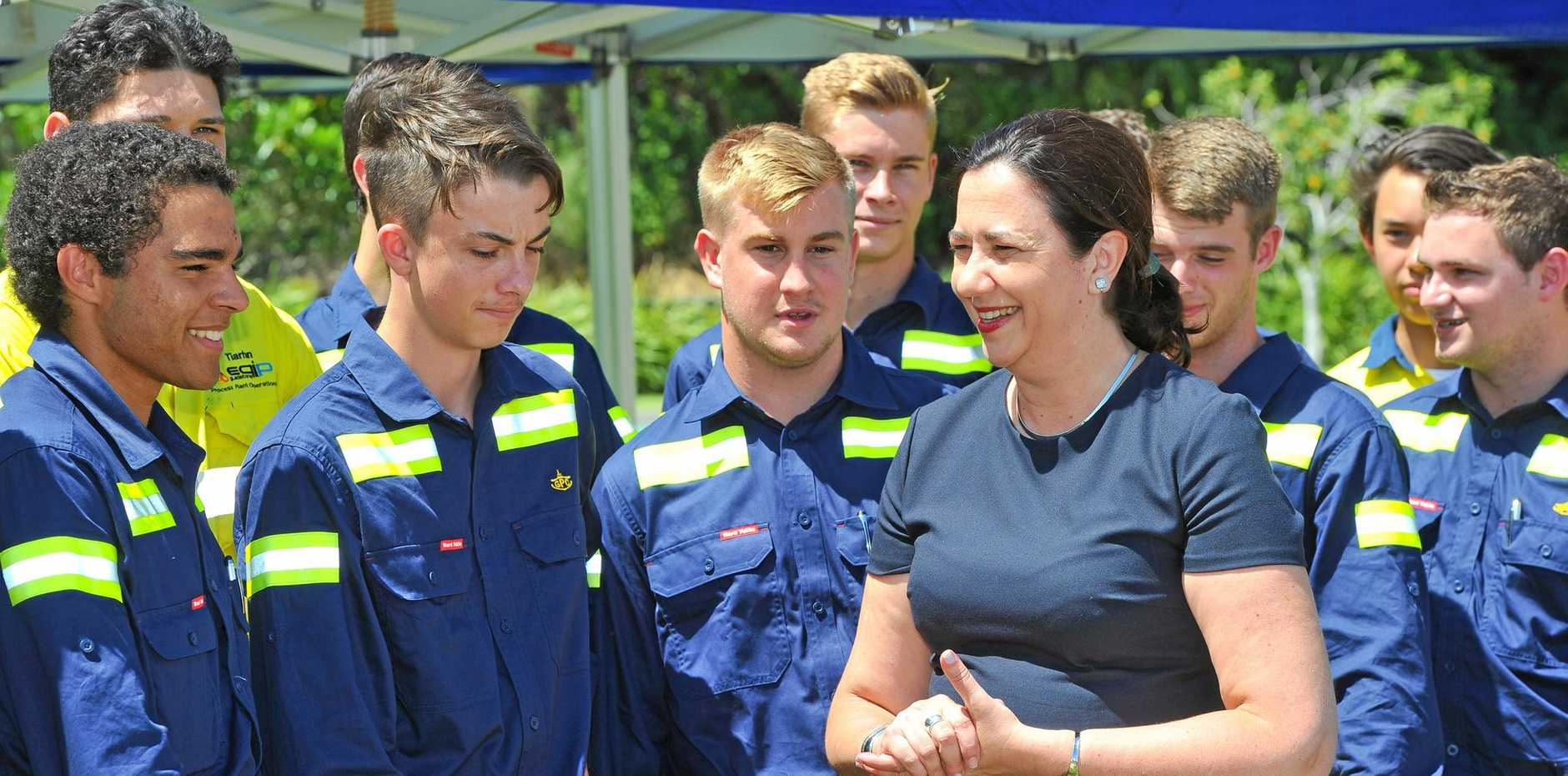 NEW INTAKE: Premier of Queensland Annastacia Palaszczuk met with the Gladstone Ports Corporation's 2017 apprentices earlier this year.