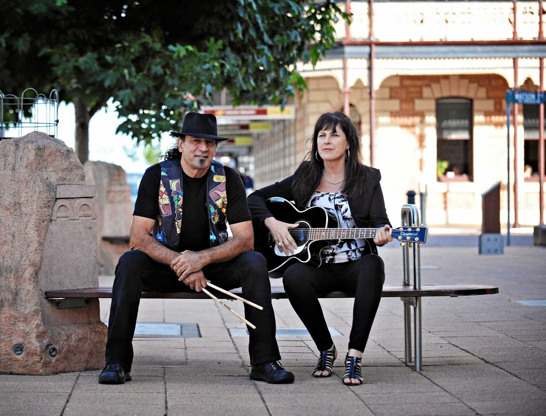 COMING SOON: Lily and the Drum band members John Yacka and Lily Higgins will be touring Queensland in August.