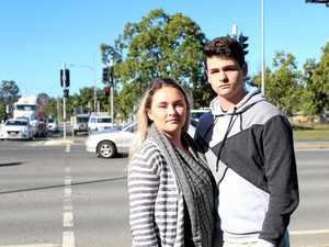 NO SHOCK: Bradyn Keely and Neela Rogers weren't surprised to hear the Caboolture intersection had ranked number two for crash hot spots.