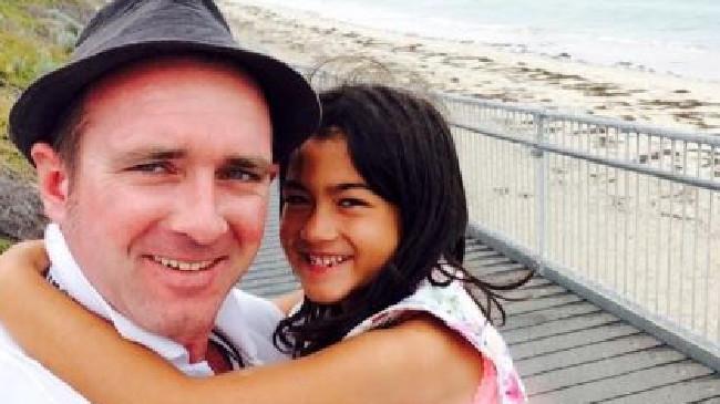 David Conway with his daughter Keisha.