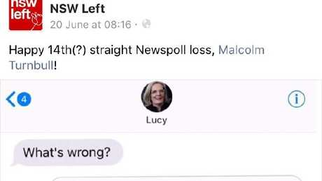 Labor's take on Malcolm Turnbull's poll woes. Picture: Facebook