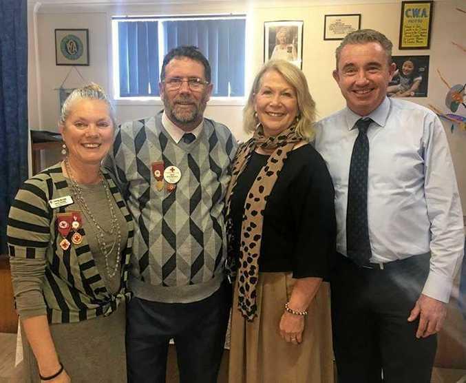 Secretary Judy Jackson, President David Dodsworth, Mayor Denise Knight and MP Kevin Hogan.