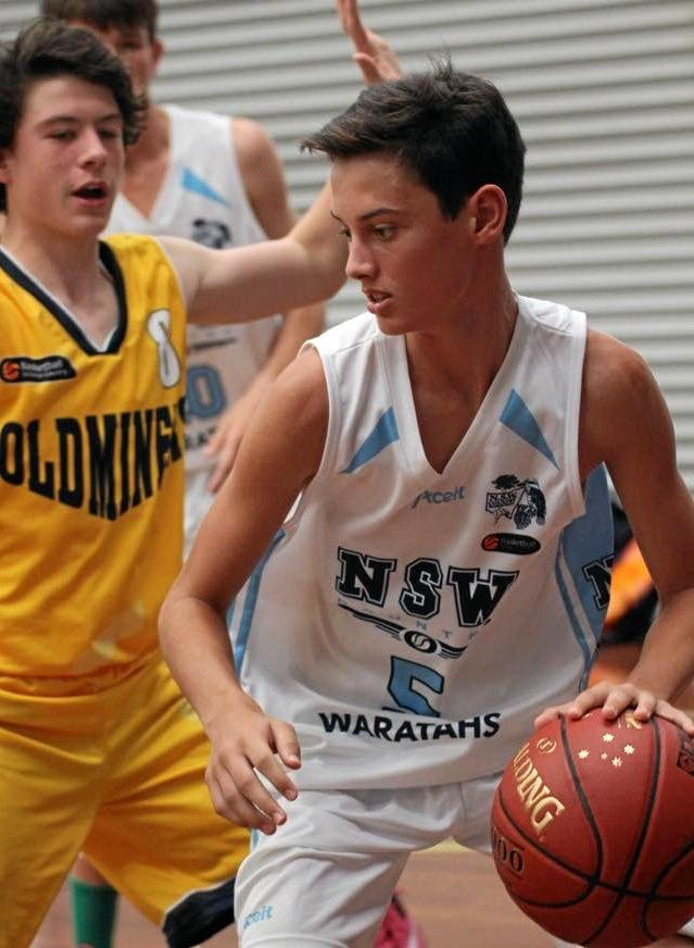 ON COURT: Lachlan Mihai in action for the NSW Country under-16s.