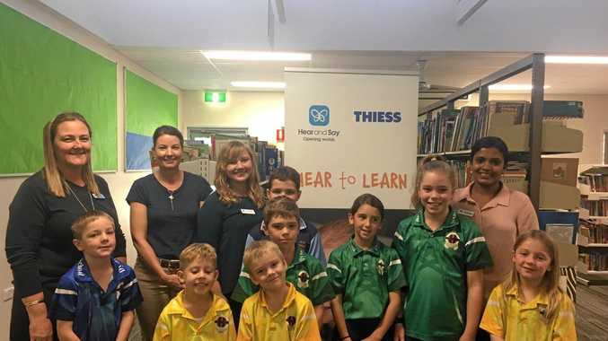 SCHOOL SCREENING: Dysart State School students benefited from a visit by a Hear and Say program.