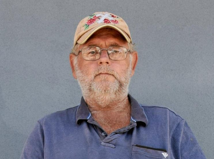 Rockhampton man Roy Lucas can't work.