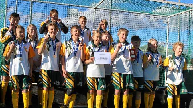 Hockey Coffs Coast's state championship winning under-13 boys team.