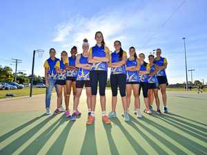 SQUAD GOALS: Gladstone Under-13 netballers Corinne Wright (coach), Dayna Sharpe, Thea Maxwell, Millie Hinz, Esther Bourke, Kasi Richardson, Demi Strange, Georgia Woolley, Jada Walker and Tracey Calis (assistant coach). Aleisha Paul (absent).