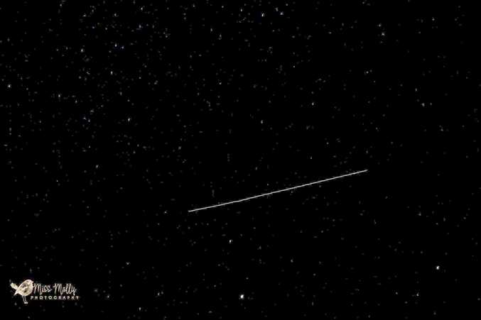 Molly Younie took this photo of the International Space Station over Mackay on Wednesday night, July 19, 2017.