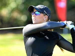 TEE TIME: South Australia's Kristalle Blum is one of two female professionals competing in the Ian Weigh Toyota Rockhampton Pro-Am.