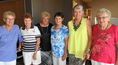 HISTORY: Some of the original Tuesday Ladies Ida Regan, Shirley Cook, Fay Ericksen, Grace Jackson, Bev Woodward and Avon Erickson.