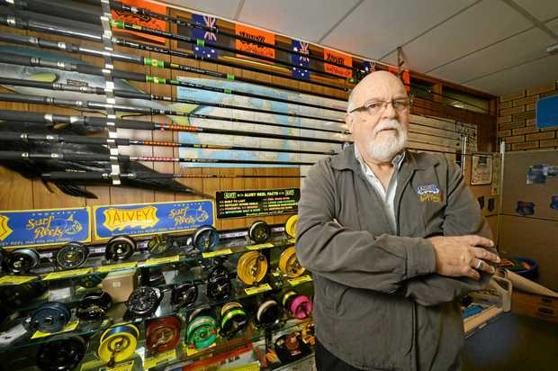 SAD DAY: Bruce Alvey from Alvey Reels has announced the business will close.